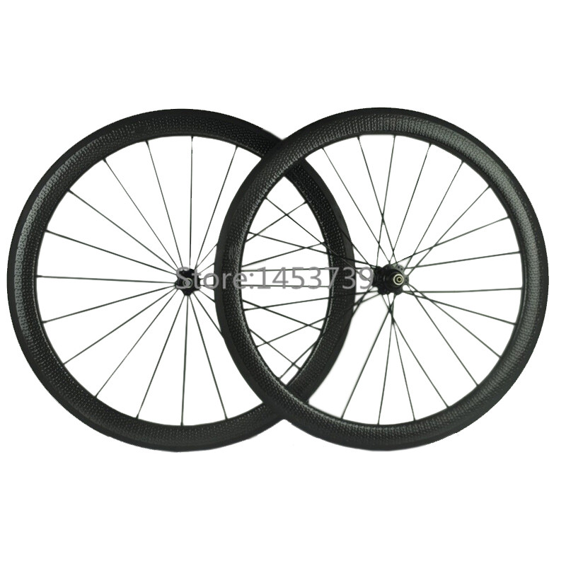 50mm carbon wheelset road dimpled bicycle wheel 25mm width clincher with novatec hub road bike carbon wheel 50mm clincher carbon bike wheel 25mm width bicycle wheel set novatec light weight hub 700c wheel set