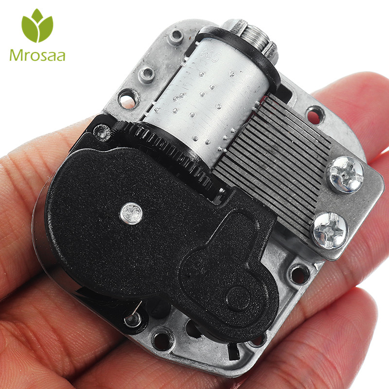 DIY Hand Crank Music Motor Mini Music Box City of Sky Music Boxes Movement Caskets For Doll House Dollhouse Accessories