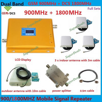 LCD Display Dual Band GSM DCS 900 1800 Mobile Signal Repeater GSM 4G LTE FDD Cellular
