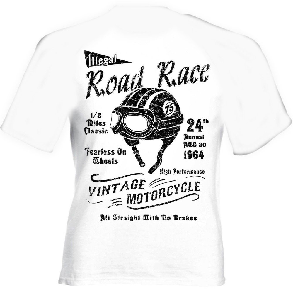 Road Race Cafe Racer <font><b>Bsa</b></font> Vintage Retro Biker Motorcycle 2019 Hot Sale New New Fashion Men'S T <font><b>Shirt</b></font> Brand Clothing image