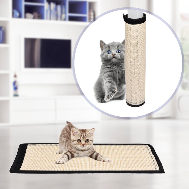 2017 New Natural Cat Sisal Pad Scratch Post Mat Prevention Sofa Furniture Protector Household Playing