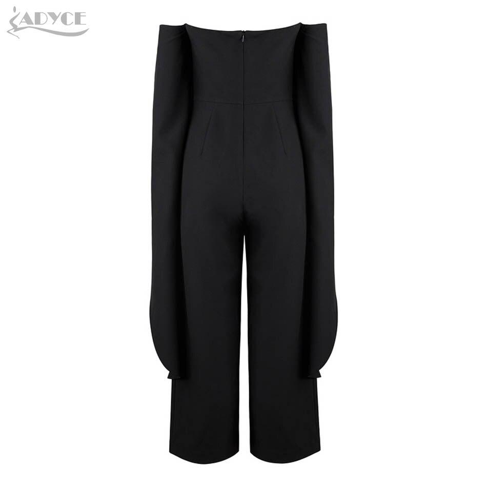 En 2018 Celebrity Style Femme Manches Gros Bretelles Nouveau Salopette Noir Party Adyce Body Longues Longue Combinaisons Sexy pZdREqwn