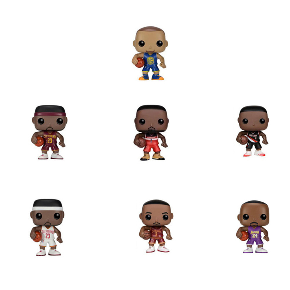 Basketball Star FUNKO POP James Family Than Library In Erwin Benefit Ladd Doll Model Action Toy Figures Jewelry Set