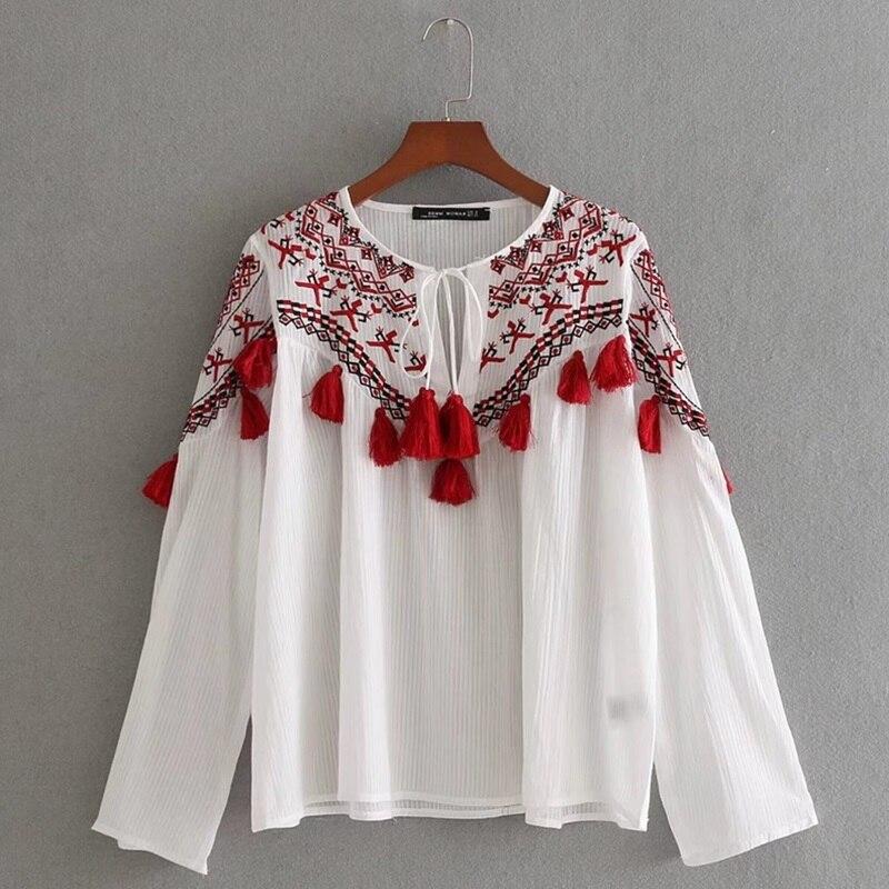 ad67c8cec Mujer tops 2018 túnicas Mujer blusa 2018 mexicano hippie blusa boho chic  camisa señoras tops ...