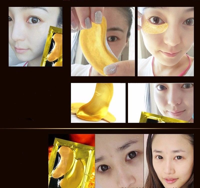 pcs=10packs 17 Gold Crystal Collagen Eye Mask Hotsale Eye Patches For The Eye Anti-Wrinkle Remove Black Eye Face Care 11