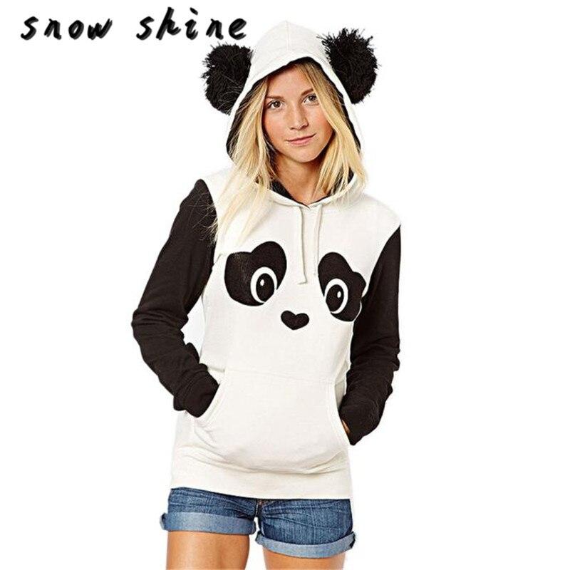 ツ)_/¯Snowshine ylsw mujer Panda Pocket Sudadera con capucha Tops ...