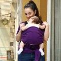 2015 Promoção Baby Sling Elástico Wrap Carrier Mochila Hipseat Bebê Canguru Mochila Cor Sólida Algodão Elástico