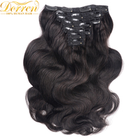 200G 10Pcs Full Head Clip In Human Hair Extensions Brazilian Remy Hair 100 Human Hair Natural