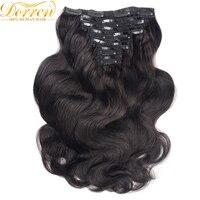 200G 10Pcs Full Head Clip In Human Hair Extensions Brazilian Remy Hair 100 Human Hair Natural