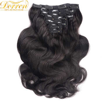 200G Full Head Clip In Human Hair Extensions Brazilian Machine Made Remy Hair 100% Human Hair Natural Black Color By UPS - DISCOUNT ITEM  32% OFF All Category