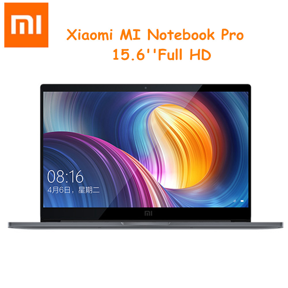 Xiao mi Notebook Pro Laptops 15,6 pulgadas Win10 Intel Core i7-8550U 16 Gb RAM 256 GB SSD Reconocimiento de huellas dactilares dual WiFi portátil