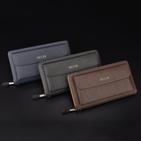 delin 105 De Lin male and female general business casual handbag handbag vertical paragraph long zipper