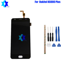 For Original Oukitel K6000 Plus LCD Display Touch Screen Panel Digital Replacement Parts Assembly 5 5