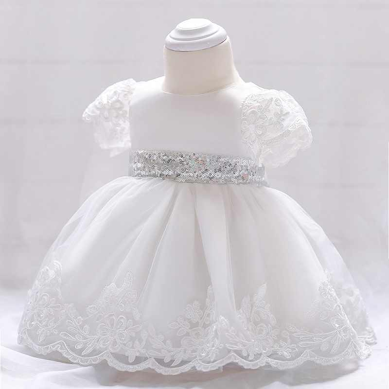 ... 2019 Baby Girl Dress Lace white Baptism Dresses for Girls 1st year birthday  party wedding Christening ... e1ab28195f42