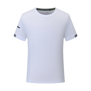 Image 5 - Mens T shirts Fashion Solid Color Short Sleeves Quick drying breathable Slim Fit Mens Summer t shirt
