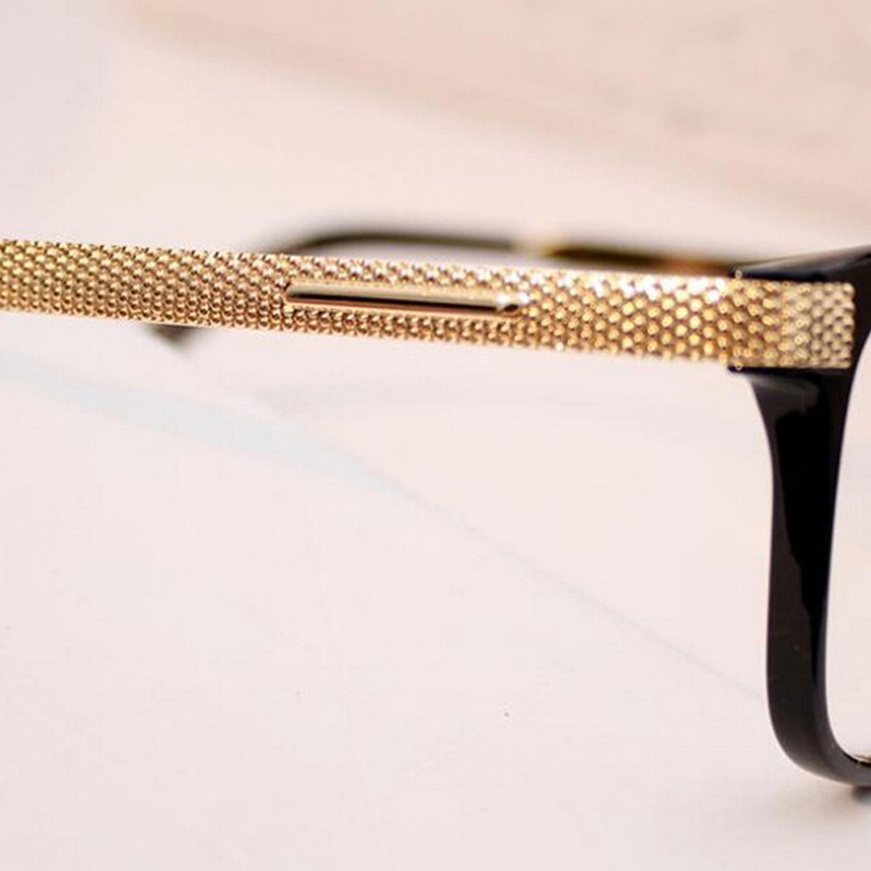 aliexpresscom buy women glasses vintage gold computer eye glasses frame plain mirror black frame glasses men oculos de graufree shipping y24 from