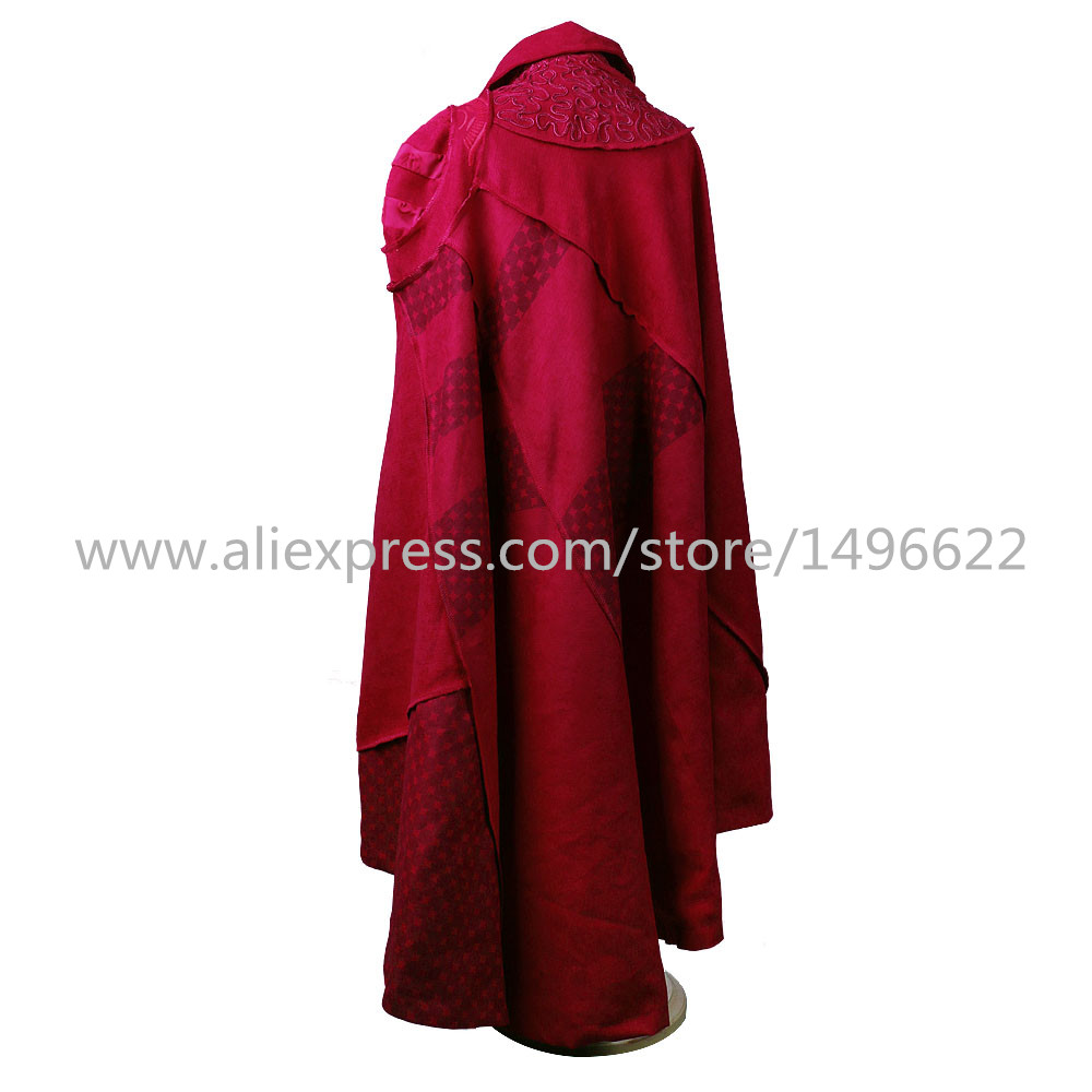 Cos Marvel Movie Doctor Strange Costume Cosplay Steve Red Cloak Kids Costume Robe Halloween Costume Party (4)
