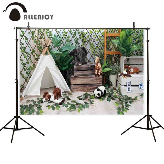Allenjoy photography background safari birthday party tent decor cake smash backdrop photocall photo studio custom new fabric