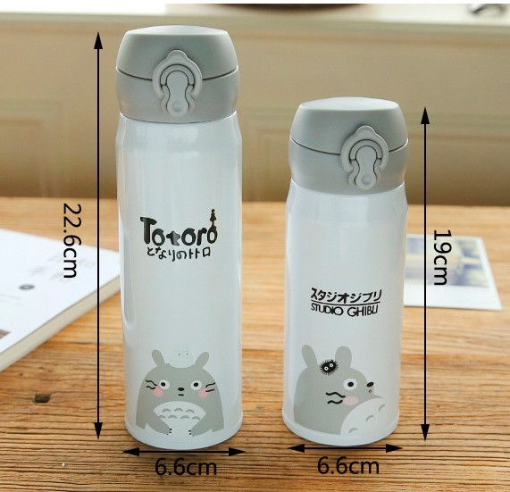 My Neighbor Cartoon Totoro Stainless Steel Thermos Vacuum Flasks Bottle (300/450ML – 4 Styles)
