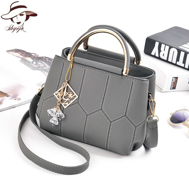 2018 New Fashion Top Handel Women Handbags Causual Tassel Lady Messager Bag  Classic Shoulder Bag PU cb87c49418c87