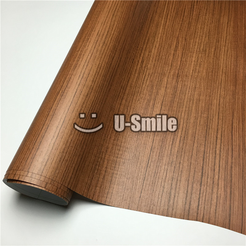 Teak Car Wooden Self Adhesive Film Sticker Decal Wood Vinyl For Wall Furniture Car Interior Size:1.24X50m/Roll(4ftX165ft) adhesive sticker tag for clothing size labeling and classification m size 15 x 132