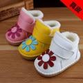 2016 Flor de Invierno Infantil Niños Bebé Botas de Nieve Blanda niños de Algodón Zapatos Enfant Bebé del Invierno Cálido Botas de Primera caminantes