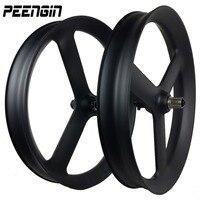 26er Snow 3 Spoke Wheel Carbon Fat Bike Tri Spoke Wheelset 90x40mm Tubeless Thru Axle Hub