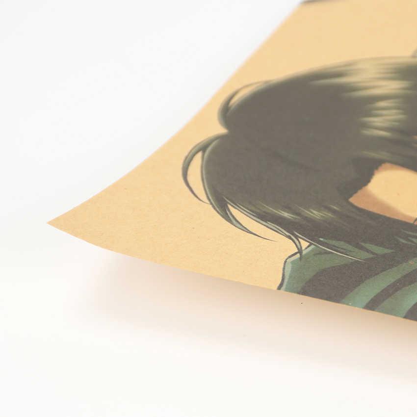 Gravata ler ataque no titan b estilo japonês dos desenhos animados em quadrinhos papel kraft poster adesivos de parede decoração para casa pintura 51.5x36cm
