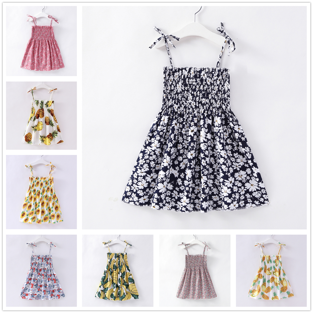 2-7Y Kids Girls Dresses Summer Children Birthday Clothes for Girl Princess White Dress 2 3 4 5 6 7 Years Toddler Cotton Clothing jomake girls dress 2017 new winter cute watermelon printed kids dresses for girls fleece princess dress children clothing 2 7y
