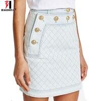 HAGEOFLY Short Jeans Skirt Women New Arrival 2017 Blue Denim Skirt Mini Jean Skirt A Line