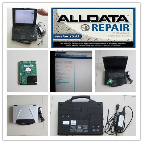 Special Offers car diagnostic software for laptop v10.53 alldata and mitchell on demand auto repair 2in1 hdd 1tb toughbook cf52 ready to use