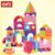 QWZ 50 unids Segura Niños Ladrillos De Construcción Bloques de Construcción De Espuma EVA Suave Caso Zip Niños Montessori Juguete Kid Inteligencia Ejercicio