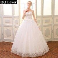 QQ Lover 2018 Real Photo Plus Size Vintage Lace Wedding Dresses Princess Vestido De Noiva Ball