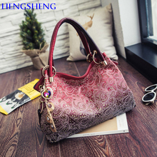 HENGSHENG Fashion pu leather women messenger bag with quality leather ladies crossbody bag and popular women handbags