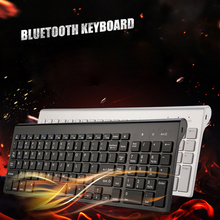 цена Landas Universal Bluetooth Wireless Keyboard For Mac 102 Key USB Wired Bluetooth Keyboard For IOS For Android For Windows Laptop онлайн в 2017 году
