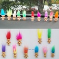 5pcs/lot Colorful Hair Troll Doll Family Members Daddy Mummy Baby Boy Girl Leprocauns Dam Trolls Toy Gifts Happy Love Family