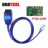 Con el Chip FTDI OBD2 Cable USB de diagnóstico para la herramienta de escaneo Fiat VAG eco leer el motor claro ABS AirBag ESP fail Auto OBD conector