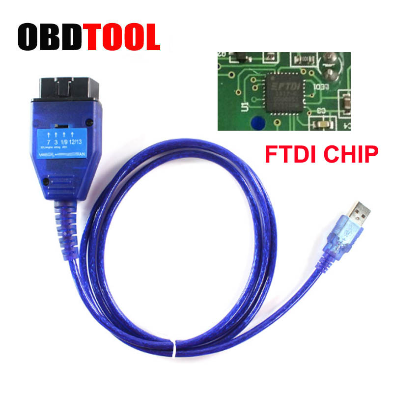 With FTDI Chip OBD2 USB Diagnostic Cable For Fiat VAG Ecu Scan Tool Read Clear Engine ABS AirBag ESP Fault Auto OBD Connector