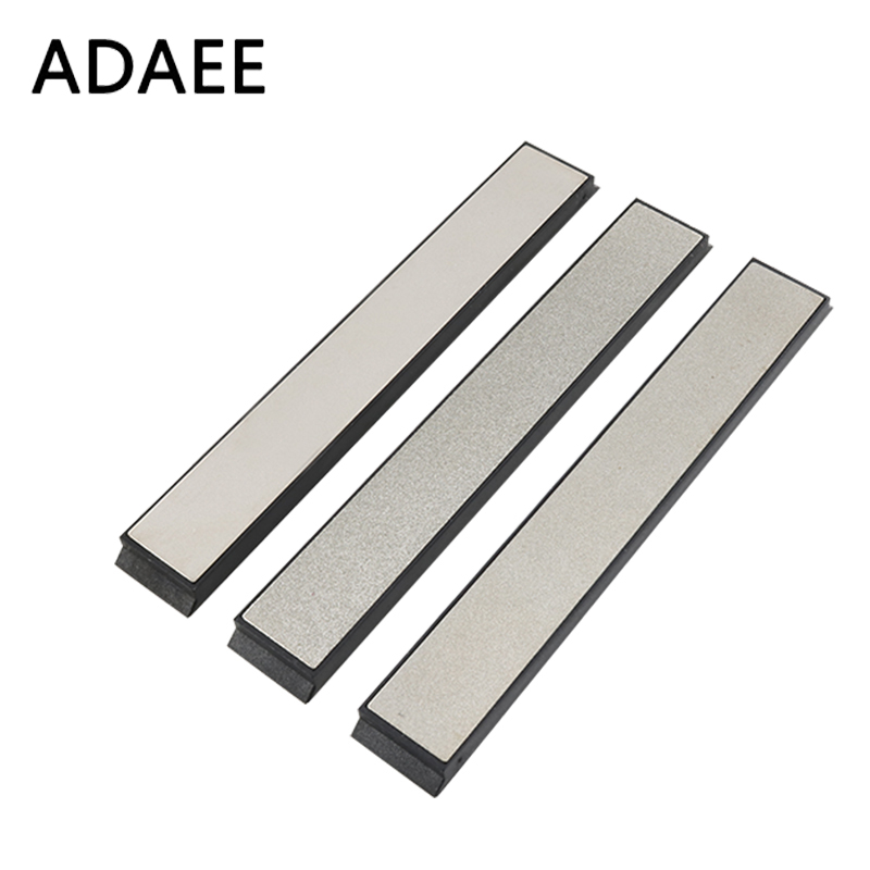 ADAEE 3pcs / Set Diamond Whetstone Edge 200 500 800 Grit Diamond გამამხნევებელი ქვა Apex Sharpener Tool Tool H3