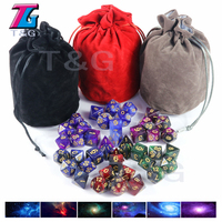 Top Grade Fashion Galaxy Dice 7 Pieces Role Playing Game Table Board Game Portable Dice Man Gift