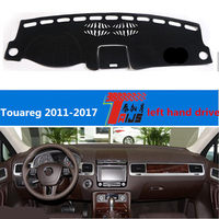 TAIJS Hot Selling LEFT Hand Drive Car Dashboard Mat Pad For Volkswagen Touareg 2011 2017 Sun