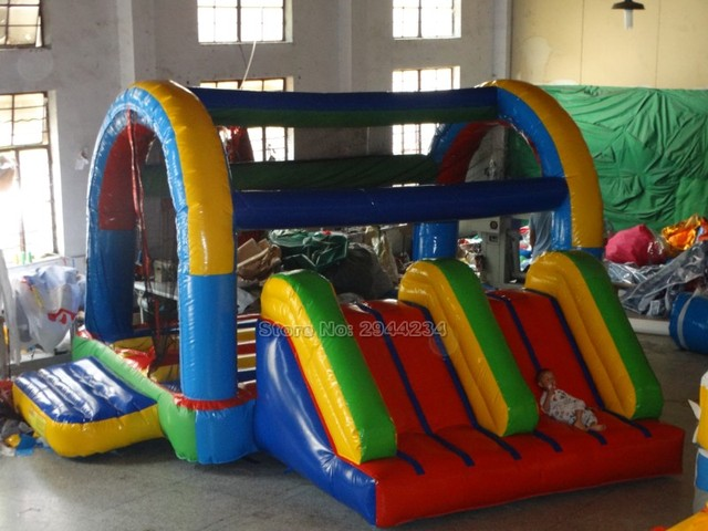 PVC Commercial Inflatable Slide Inflatable Bouncer Combo for kids  factory price castle for sale