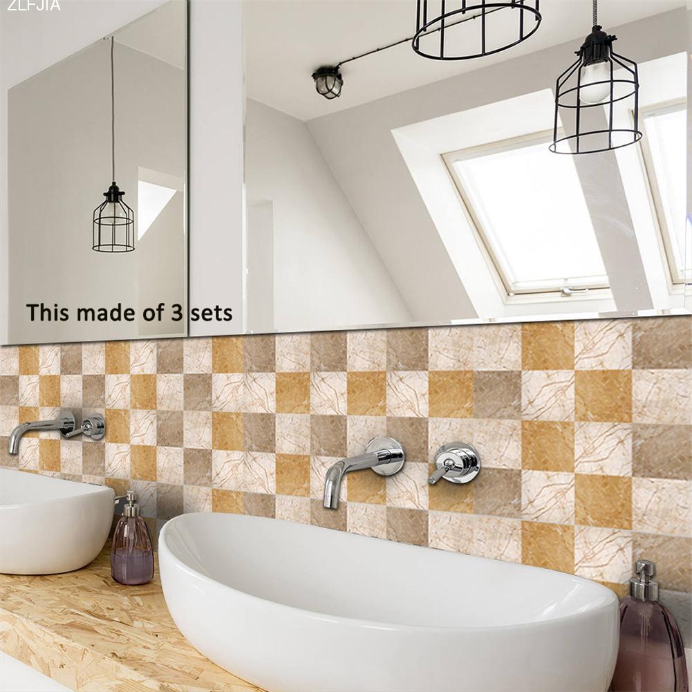 10pcs/set Minimalist Marble Texture Style Tile Stickers Innovative ...