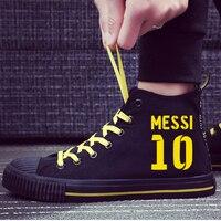 Fashion Bacelona Argentina Messi Men Sneakers Canvas Shoes Footwear Casual Leisure Shoes Men's Vulcanize Shoes