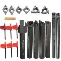 New 7pcs Lathe Turning Tool Holder Boring Bar 7pcs DCMT CCMT Carbide Inserts Blade For Home