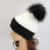 2016 Mulheres Moda Outono Inverno Chapéu Colorido Dos Retalhos Com Grande Real pele Pom Pom Chapéu Acrílico Malha beanie Hat Para Mulheres Meninas