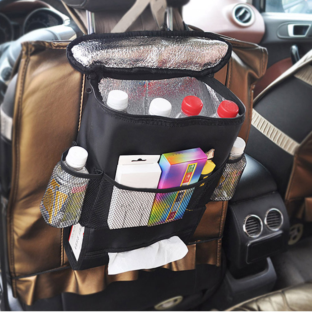 Car Auto Seat Storage Hanger Bag Organizer Thermal Insulated Food Storage Container Basket Tidying Bags #YL6(China)