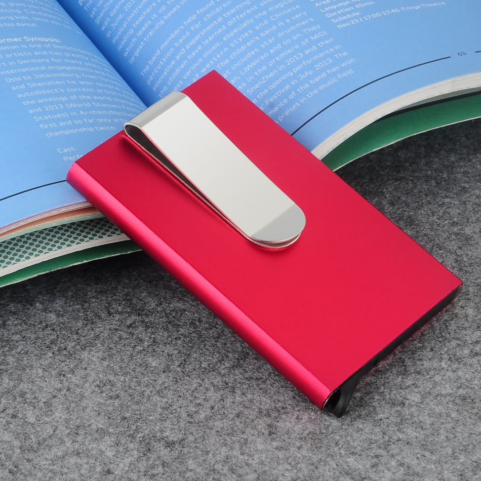 Metal Business ID Travel Card Wallet Automatic Pop Up ID Credit Card Holder Men Women Business Card Case Stainless Steel Clip #D цена