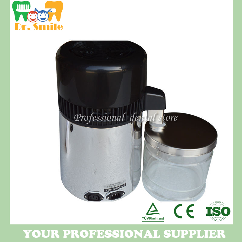 Dental Water Distiller Pure Water Purifier Filter Stainless Glass Bottle with stainless shell