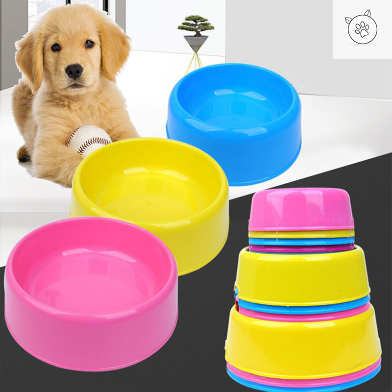 SUPREPET Safety Cute Candy Colored Plastic Pet Bowl Water Feeding Puppy And Cat Feeder Dog Food Container Cat Bowl Pet Supplies